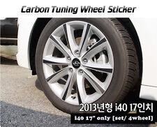 Carbon Tuning Wheel Mask Sticker For Hyundai Elantra Touring wagon;i40 [2013~on]