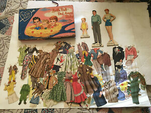 """1953 WHITMAN & LUCILLE BALL & DESI ARNAZ """"I LOVE LUCY"""" 3 PAPER DOLLS AUTHORIZED"""
