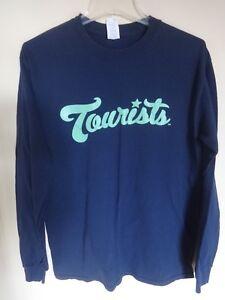 EUC MiLB Asheville Tourists Long Sleeve Pullover Baseball Shirt Men M Rockies