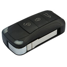 4 Button Flip Remote Key Fob Case Shell Fit For Porsche Cayenne 2003-2011