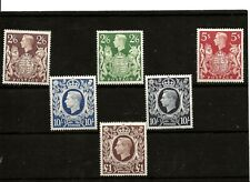 GB (450) 1939 SG476-478c HIGH VALUES SET OF 6 2/6 TO £1 VERY FINE MOUNTED MINT