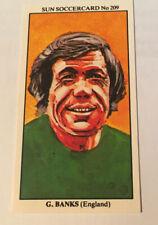 """Gordon Banks (Stoke City & England) - Sun """"All Time Greats"""" Soccercard No. 209"""