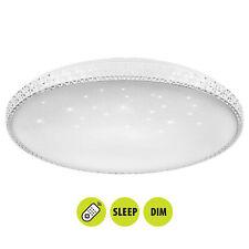 Plafoniera con cristalli LED 60W lampada soffitto dimmerabile timer luce 3 step