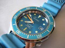 Squale Professional OCEAN 500mt - acciaio lucido, cinturino diving azzurro