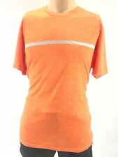 $115 LOTTO Men STRETCH ORANGE CREW NECK SHORT SLEEVE ATHLETIC LOGO TOP T SHIRT L