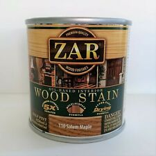 Half Pint Can Zar 110 Salem Maple Oil Based Interior Wood Stain 17E22 1/2 Pt