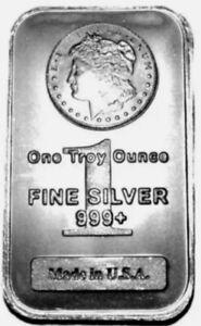 1oz Silver Bullion Bar, .999 Purity, 1oz U.S.A Silver Bullion Bar .999/Patterned