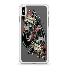 Majestic Crowned Skulls Ace Of Spades Playing Card Game 2D Phone Case Cover