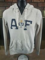 Vintage Abercrombie & Fitch Gray Hooded Hoodie Sweatshirt Woman's Size Large
