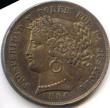 PEROU REPUBLIQUE 5 PESETAS 1880 BF KM 201.2