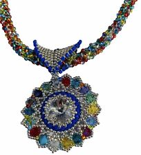 Rivoli Pendant Beading Jewellery Making Kit 2 Patterns In 1 Swarovski Miyuki