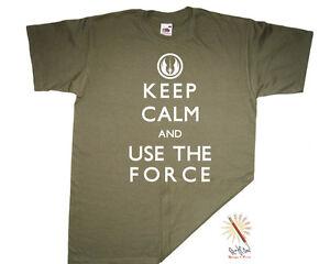 T-shirt KEEP CALM and USE THE FORCE. Star Wars/Jedi/Yoda/Obi Wan Kenobi S-XXXL