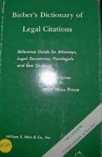 Bieber's dictionary of legal citations: Reference guide for attorneys,-ExLibrary