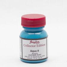 Angelus Brand Collector Edition Aqua 8 leather paint 1 oz. bottle