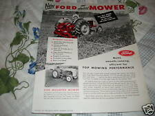 Ford Tractor Mowers dealer's brochure