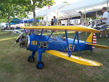 1/3 Scale STEARMAN PT-17  RC Model AIrplane Digital PDF Plans  on a CD
