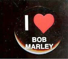 old I Love ( Heart ) Bob Marley Pin Pinback Button
