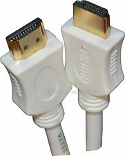 White 2m HDMI 1.4 Version High Speed Cable Lead Cord Gold Contacts 3D HD TV New