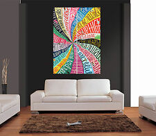 SOMEWHERE OVER THE RAINBOW LYRICS Giant Wall Art Print Picture Poster
