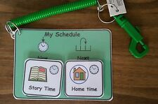 Now/Next Keyring Pack for a Nursery/Pre School/Playgroup - ASD/Autism/ADHD/SEN