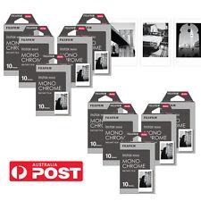 Fujifilm Mini Instax 100 Monochrome Black White Film Photo - Fuji 8 Polaroid 300
