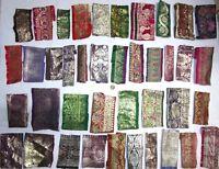 VERY RARE LOT Antique Vintage Sari TRIM LACE EDGING RIBBON 25 Pcs BANARASI DOLL