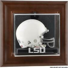 LSU Tigers Brown Framed Wall-Mountable Mini Helmet Display Case - Fanatics