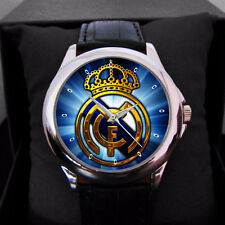Real Madrid Logo Soccer Leather Sport Watch for man or women Best For Gift