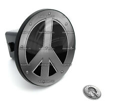 """2"""" Tow Hitch Receiver Plug Cover Insert For SUV's & Trucks - """"PEACE SIGN"""""""