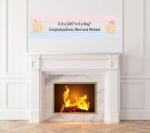 Gender Reveal -Baby Shower Printed Banner-Indoor Outdoor Gender Reveal Banner