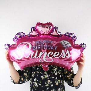 Crown Baby Shower Princess Foil Balloon Party Supplies Birthday Balloons
