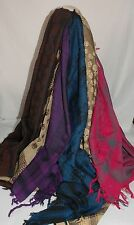 Womens Ladies Handmade Woven Festival Scarf with Fringes