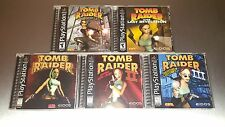 Tomb Raider 1, 2, 3, Chronicles, Last Revelation ☆ MINT CASES PS1 Playstation 1