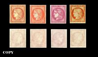 FRANCE 1849-1850 40¢,80¢-1Fr,40¢ 4 VALUES, LUXURY COLLECTION    COPY