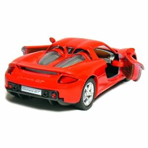 "Brand New 5"" Kinsmart Porsche Carrera GT Diecast Model Toy 1:36 Red"