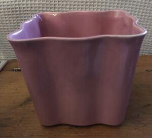 "Shawnee?McCoy? Large Pink Square Flower Pot Planter Vase USA 402 EUC 6""x6"" NICE"