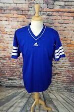 NWT Adidas Bayern Blue Stripe Short Sleeve Athletic Soccer Futbol Jersey Shirt L
