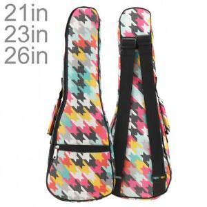 """21/23"""" 26'' Ukulele Gig Bag Folk Concert Ukulele Mini Hawaii Guitar Case Uke Bag"""