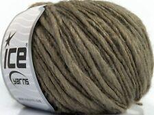 Ash Brown Winter Thin Thick 39182 Ice Bulky Acrylic Wool Blend Yarn - 50gr 71yds