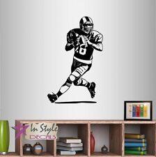 Vinyl Decal Wall Sticker Running Football Player Kids Sports Boys Bedroom 864