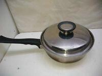 Homemakers Guild Stainless 2 Qt Saucepan Stir Fry Saute Pot Casserole & Lid USA