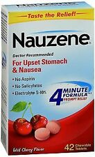 Nauzene Upset Stomach & Nausea Chewable Tablets Wild Cherry Flavor - 42 ct,...
