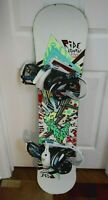 RIDE LOW RIDE SNOWBOARD SIZE 120 CM WITH BURTON SMALL BINDINGS