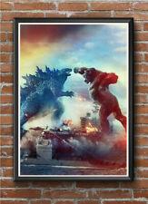 GODZILLA VS KONG 2021 - A4 BORDERLESS Movie Film Poster Print Art Wall Decor