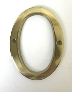 """New Brass House Number 0  Home Address Marker  4"""" tall  2"""" wide"""