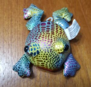 Vibrating Frog Toy Colourful Rainbow Sparkly