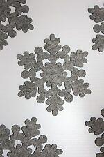 Weihnachten Advent 18 x Schneeflocken aus Filz 10 cm Tischdeko grau