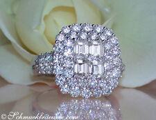 Reinheit IF Echte Diamanten-Ringe aus Weißgold mit Brilliantschliff