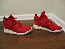 Used Worn Size 12 Adidas Tubular X CNY Chinese New Year Shoes Red White AQ2548