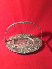 Antique Barbour International Silver Company Dutch Repousse Silver Basket #3727